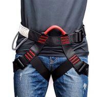 Cinto de segurança ajustavel para escalada de montanha ao ar livre arnês de rocha ajustável metade do corpo proteção