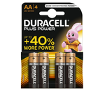 Pilhas alcalinas 1,5V LR6 / AA - Duracell Plus Power MN1500 [4 unid.]