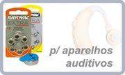 Pilhas para aparelhos auditivos