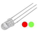 LED bicolor 3PIN 5mm vermelho/verde 150mcd 24º - Kingbright