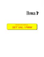 MANUAL  ITOWA   SET VAL PWM